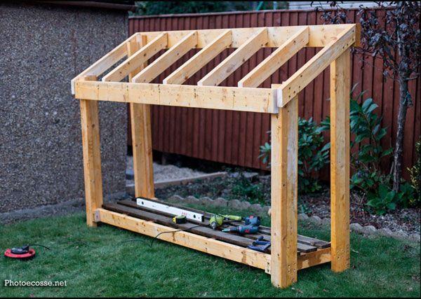 DIY Small Wood Shed | Small wood shed, Wood shed, Diy storage sh