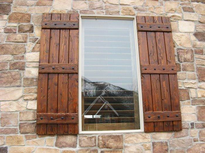 Garage Storage Ideas | House shutters, Wood shutters exterior .