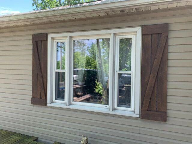 Rustic Wood Shutters - Indoor Decorative Wood Shutters - Outdoor .