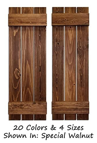 Amazon.com: Board & Batten Shutters, Farmhouse Shutters, Wood .