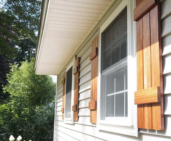 DIY Wood Shutters — Copper Dot Interio