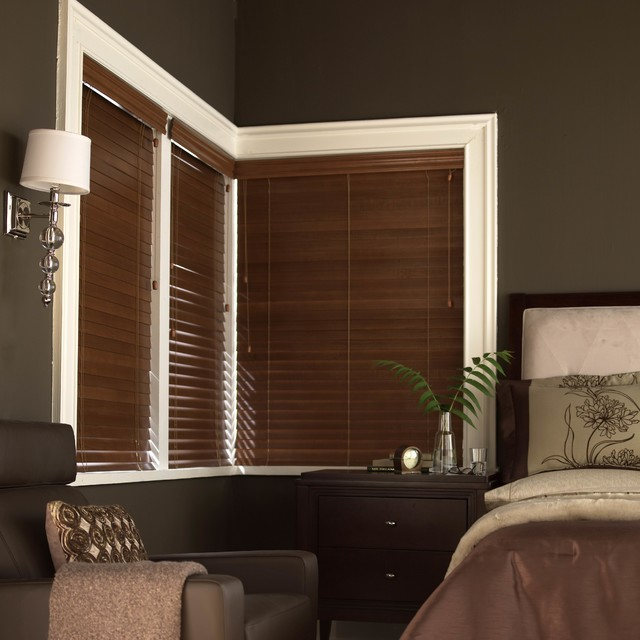 """Blinds.com 2"""" Deluxe Wood Blinds - Contemporary - Bedroom ."""