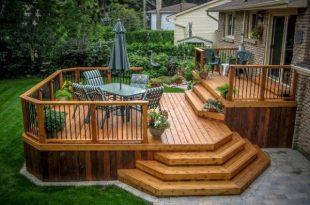 Wooden deck designs | Patio deck designs, Backyard patio designs .