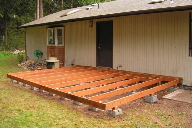 How to Make a Ground Level Wooden Deck | Building a deck, Wood .