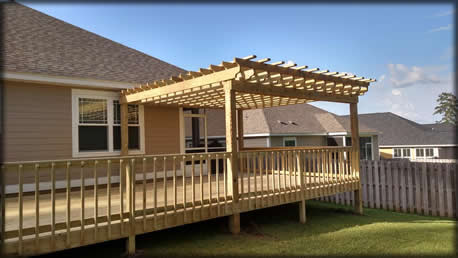 Wood Decks Custom, Tallahssee wooden decks, deck designs & builde