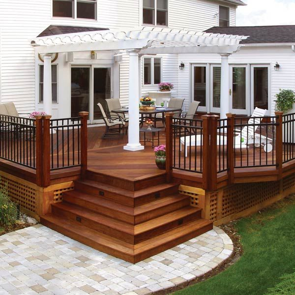 20 Beautiful Wooden Deck Ideas For Your Home | Patio deck designs .