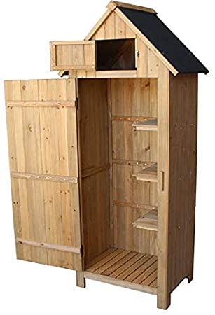 Amazon.com: CooFel Wooden Garden Shed Assembly Economic .