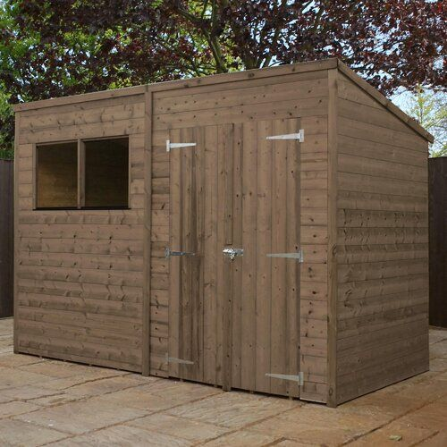 WFX Utility 10 Ft. W x 6 Ft. D Shiplap Pent Wooden Shed   Shed .