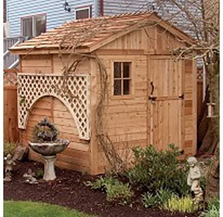 Amazon.com : Wood Outdoor Storage Shed - Great Little Shed to .