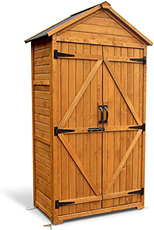Amazon.com: MCombo Outdoor Wooden Storage Cabinet Backyard Garden .