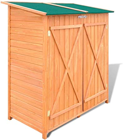 Amazon.com : Outdoor Wood Storage Garden Shed Kit Solid Wooden .
