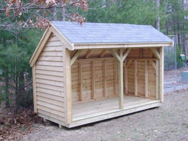 33 Wood Shed Plans to Keep Firewood Dry | Firewood shed, Building .