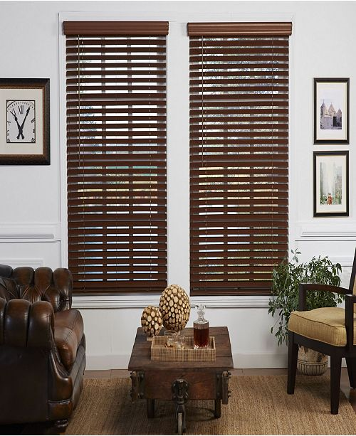 The Cordless Collection 2 in. Cordless Faux Wood Venetian Blind .