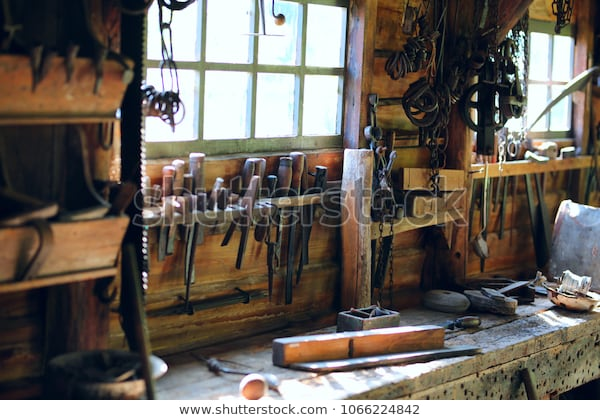 Old Wooden Workshop Tools Screwdrivers Stock Photo (Edit Now .