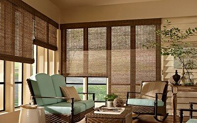 Bella View Deluxe Woven Wood Shades | Shades | AmericanBlinds.c