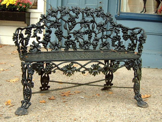 Antique Cast Iron Victorian garden Lawn bench | Victorian gardens .