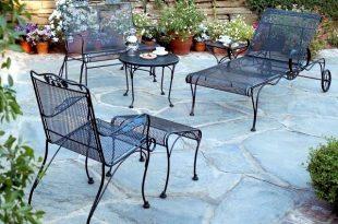 21 wrought iron garden furniture – Highlights the graceful air .