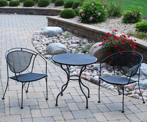 Backyard Creations® Wrought Iron Collection 3-Piece Bistro Set at .